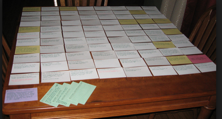 INDEX CARDS PLOTTING